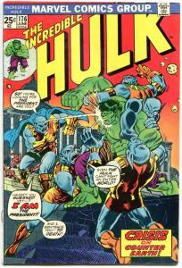 HULK #176, VG+, Incredible, Bruce Banner, Counter Earth, 1968, Warlock cameo