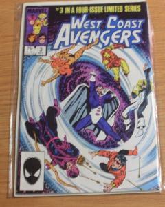 west coast avengers comic # 3 mini series 1984 hawkeye mockingbird wonderman