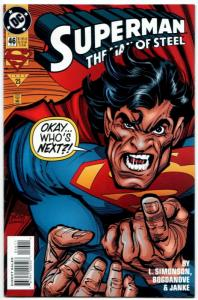 Superman The Man of Steel #46 (DC, 1995) VF