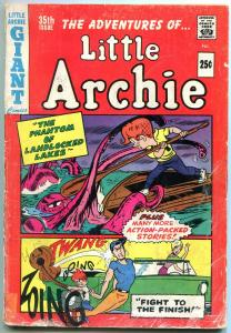 Little Archie #35 1965- Sea monster cover- Giant issue G