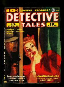 Detective Tales Pulp February 1944- DL Champion- Day Keene- VG-