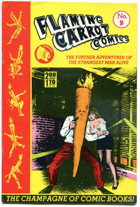 FLAMING CARROT #9, VG/FN, Bob Burden, Renegade, Zany, 1984, more FC in store