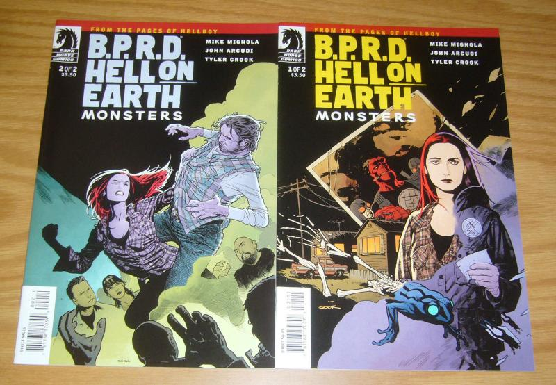 BPRD: Hell On Earth - Monsters #1-2 VF complete series - mike mignola hellboy