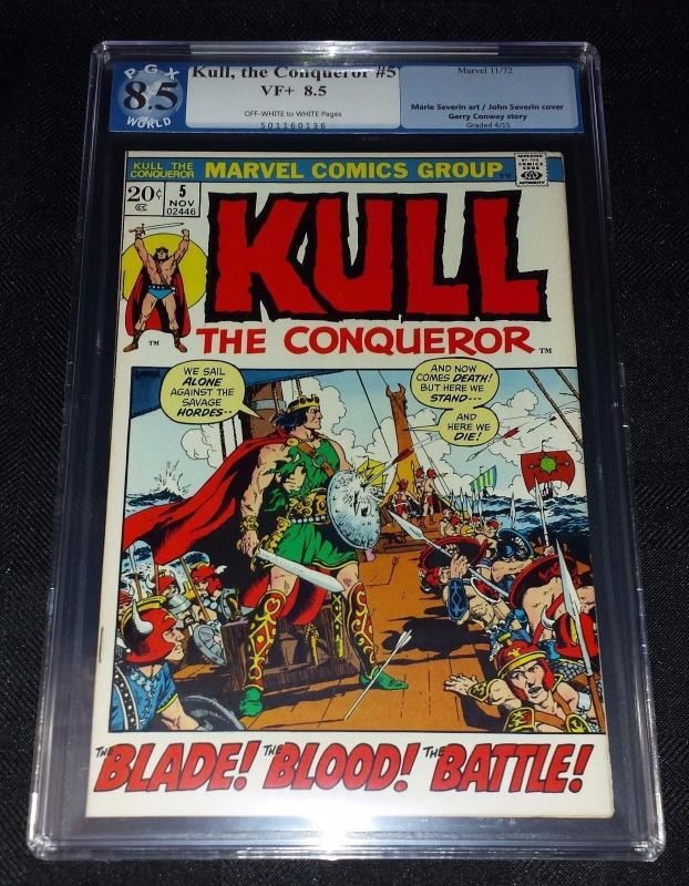 Kull The Conqueror #5 (Marvel, 1972) PGX/CGC 8.5 VF+ Off-White to White Pages