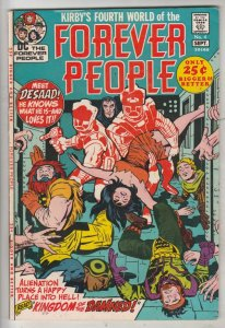 Forever People #4 (Sep-71) VF High-Grade Big Bear, Beautiful Dreamer, Serifin...