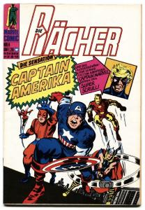 Avengers #4  German edition 1974 comic book First Silver-Age Captain America