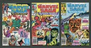 Marvel Saga #1  #2  #3 (SET)  NM  Newsstand  1985