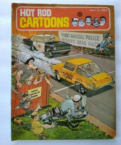 Hot Rod Cartoons Magazine March 1967 # 15 Drag Race Beatnik Automobiles Comic