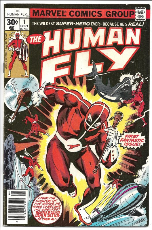 Human Fly,  #1 - Bronze Age - (VF-) Sept. 1977