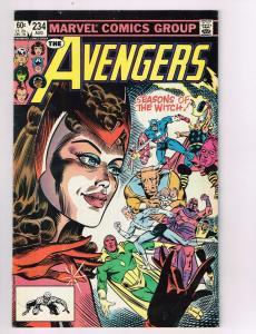 The Avengers #234 VF Marvel Comics Comic Book Vision Capt America Aug 1983 DE42