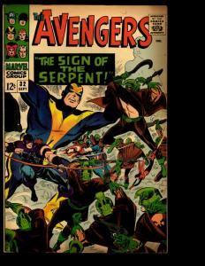 Avengers # 32 VG Marvel Comic Book Hulk Thor Iron Man Captain America NE3