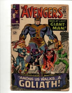 Avengers # 28 VG Marvel Comic Book Hulk Thor Iron Man Captain America BJ1