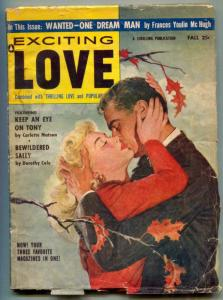 Exciting Love Pulp Fall 1956- Keep an Eye on Tony- Bewildered Sally VG-