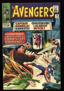 Avengers #18 FN- 5.5