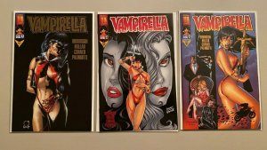 Vampirella Ascending Evil #1-3 Gold Foil Edition 3 different books 8.0 VF (1997)