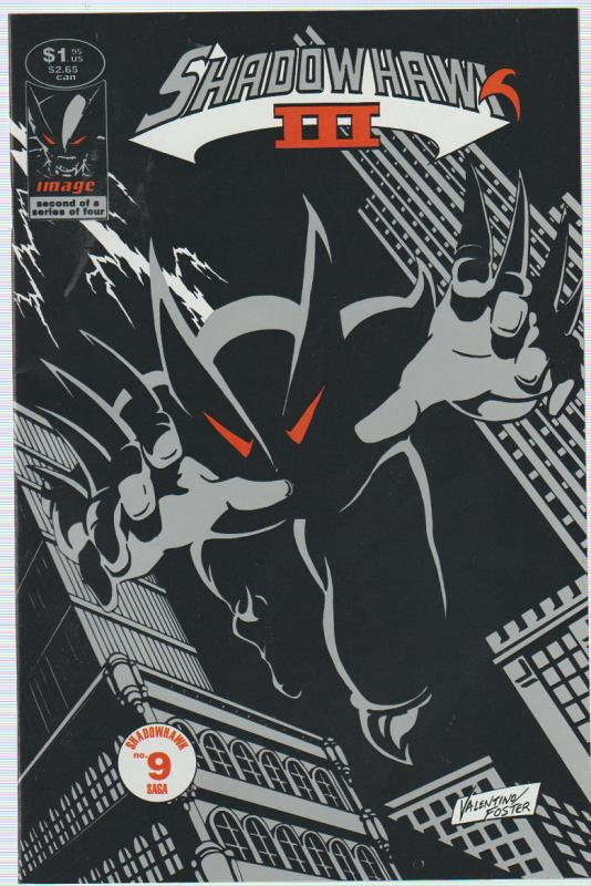 $.99 CENT SALE! SHADOWHAWK 3 #9 IMAGE COMICS - BAGGED & BOARDED