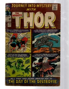 Journey Into Mystery # 119 VG Marvel Comic Book Thor Loki Odin Asgard Sif RB8