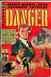 Danger  #6 1953-Comic Media-Pete Morisi-Don Heck-key issue-G+