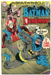 Brave And The Bold  #86 1969- Batman- Deadman - Neal Adams FN/VF