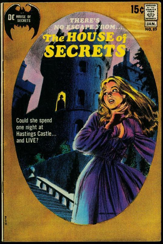 House of Secrets #89 1970- Gray Morrow- DC horror VG