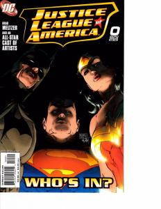 Lot Of 2 DC Comic Book Justice League America #0 and Brave New World #1 KS11