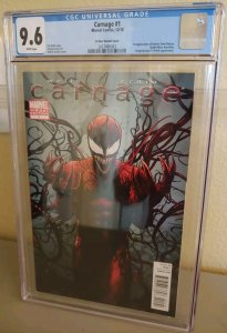 Carnage #1 (2010) CGC 9.6 White Pages Limited Variant Cover Patrick Zircher