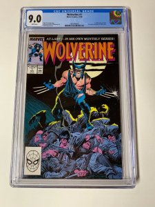 Wolverine 1 Cgc 9.0 White Pages 1988 1st Patch