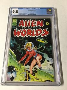 Alien Worlds 4 Cgc 9.8 White Pages Very Rare Dave Stevens Perfect Centering Too!