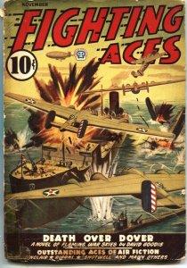 FIGHTING ACES-NOV 1942-DAVID GOODIS-CANADIAN VARIANT-WW II PULP STORIES-POPULAR