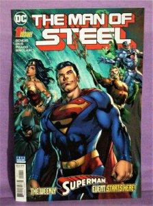 Brian Michael Bendis Superman THE MAN OF STEEL #1 Ivan Reis (DC, 2018)!