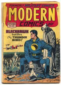Modern Comics #65 1947- BLACKHAWK- Torchy GGA- Grim Reaper cover VG