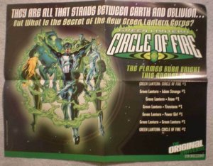 GREEN LANTERN CIRCLE of FIRE Promo poster, 2000, Unused, more in our store