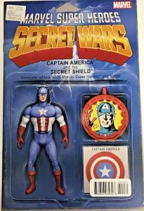 SECRET WARS#4 VF/NM 2015 ACTION FIGURE VARIANT MARVEL COMICS