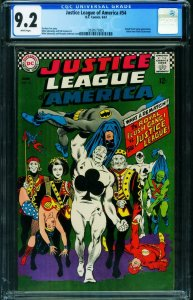JUSTICE LEAGUE OF AMERICA #54 CGC 9.2 WHITE Royal Flush Gang 2039575005