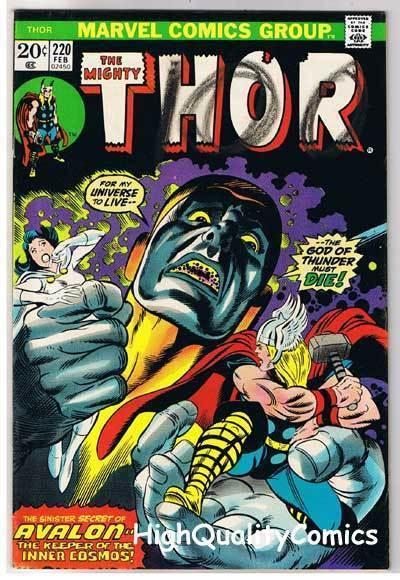 THOR #220, FN, God of Thunder, John Buscema, 1966, more Thor in store