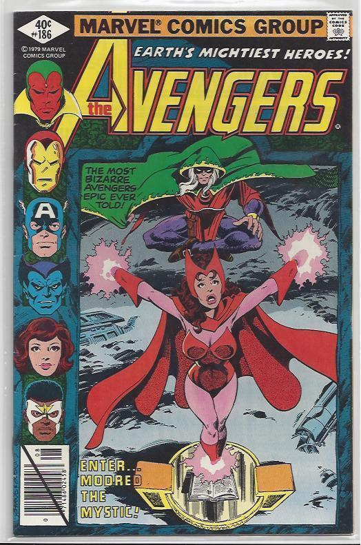 Avengers Issue #186 Autographed Old School Style by John Byrne