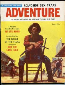 Adventure-12/1956-Robert E Schulz-pulp fiction-Berkley Mather-Gallin-FN