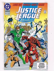 Justice League International #51 NM DC Comic Book Jones Jun 1993 DE43 TW14