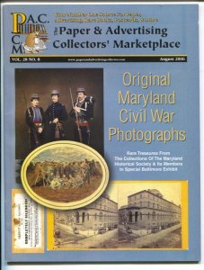 Paper Collector's Marketplace 8/2006-collector's items-original Civil War pix-VF