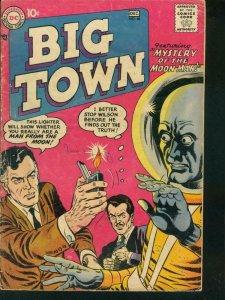 BIG TOWN #48 1957 DC COMICS MOON MAN MYSTERY SCI-FI VG