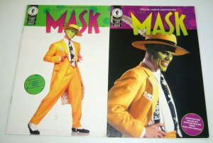 the Mask: Official Movie Adaptation #1-2 FN/VF complete series JIM CARREY photo