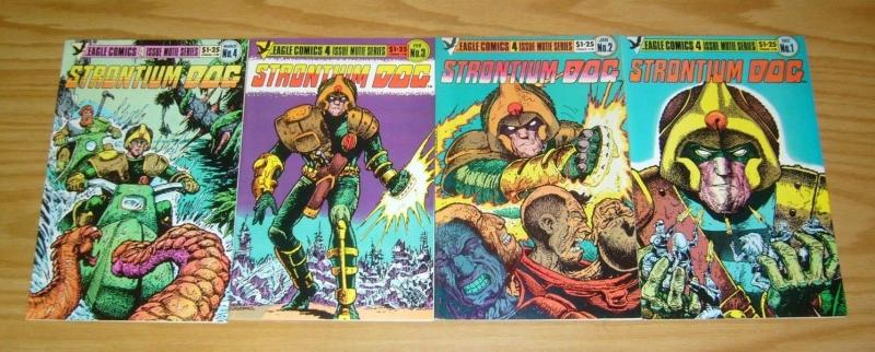 Strontium Dog #1-4 VF/NM complete series 1985 EAGLE alan grant & carlos ezquerra