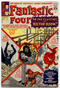 Fantastic Four #17 VF- 7.5 (Pence) EXCELLENT PAGE QUALITY Doctor Doom; Ant-Man