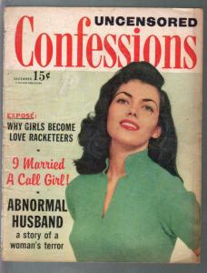 Uncensored Confessions 12/1957-exploitation-scandal-spicy-VG