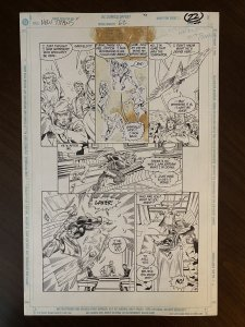 New Titans #62 Page 22 Original Art- Tom Grummett DEATHSTROKE