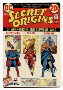 SECRET ORIGINS #1 1973-Batman-Superman-Flash-comic book