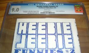 Heebie Jeebie Funnies #2 CGC 9.0 william stout - scott shaw - underground comix