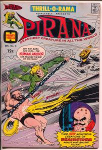 Thrill-O-Rama #3 1965-Harvey-Pirana-Man in B.lack Called Fate-FN