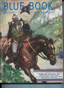 BLUE BOOK PULP-JULY 1951-G-FULTON COVER-ISRAEL PUTNAM-NELSON BOND-FRED ROSS G