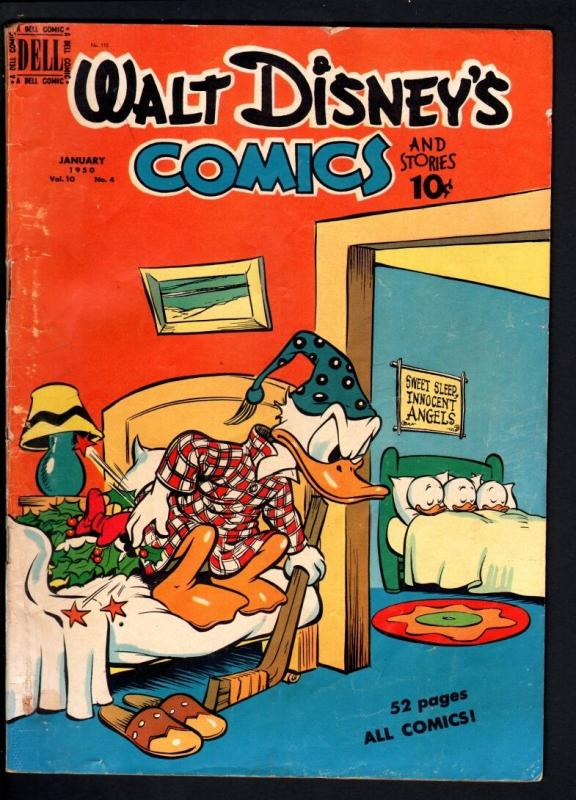 WALT DISNEY'S COMICS AND STORIES #112-1950-DONALD DUCK-MICKEY MOUSE-C BARKS VG